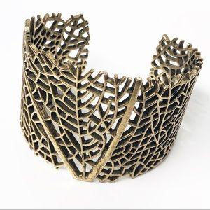Lucky Brand • Leaf Gold Cuff Bracelet
